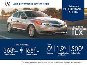 Acura ILX 2016 en location à partir de 368$/mois