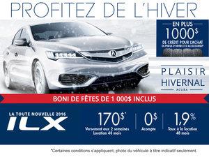 Acura ILX 2016 en location à partir de 170$ aux 2 semaine!
