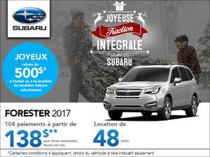 La Subaru Forester 2017 en location