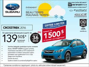 Louez le Subaru Crosstrek 2016 à partir de 139,50 $ bimensuels
