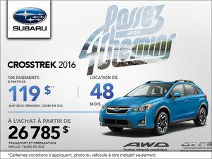 Louez le Subaru Crosstrek 2016 à partir de 119 $ bimensuels