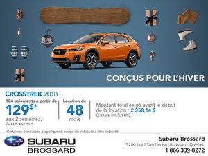 La Subaru Crosstrek 2018 en rabais!