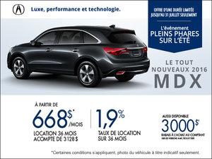 Acura MDX 2016 en location à partir de 668$ par mois