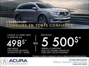 Acura MDX 2017 en location!