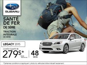 Louez le Subaru Legacy 2015 à 279$ par mois