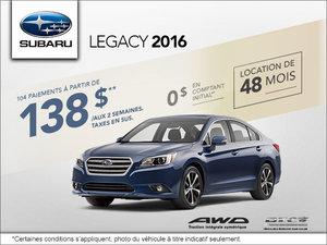 Louez le Subaru Legacy 2016 aujourd'hui