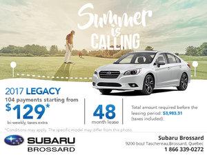 Buy the 2017 Subaru Legacy Today!