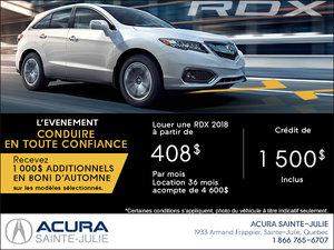 Acura RDX 2018 en location
