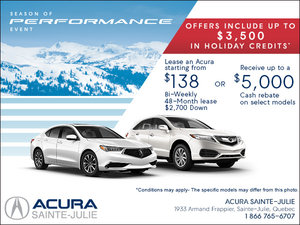 It's Acura's Monthly Sales Event!