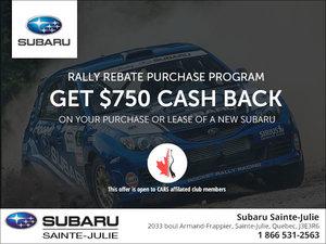 Subaru's Rally Rebate Purchase Program