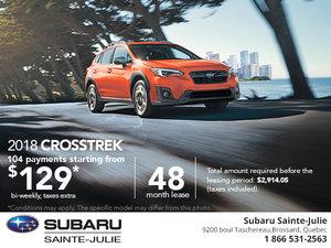 Save on the 2018 Subaru Crosstrek Today