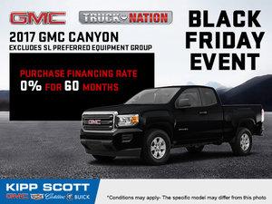 Save Big on the 2017 GMC Canyon!