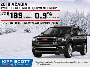Save Big on the 2018 GMC Acadia
