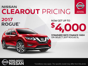 Get the 2017 Nissan Rogue Today