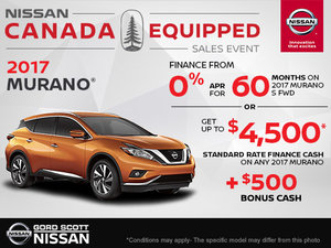 Get the 2017 Nissan Murano Today!