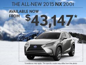 Get the new 2015 Lexus NX today!