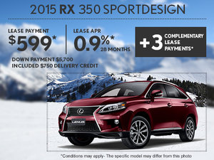 Save on the all-new 2015 Lexus RX today!