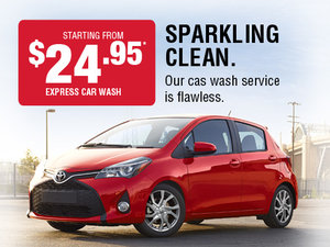Sparkling clean. Our car wash service is flawless