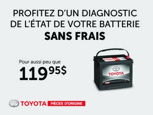 Diagnostic Sans Frais - Batterie à partir de 119,95$