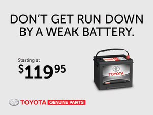 Toyota Genuine Parts - Battery starting at $119,95