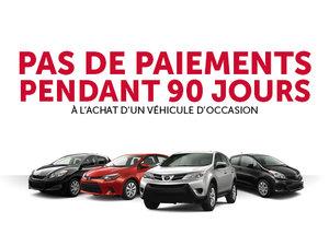 90 Jours sans paiements sur nos véhicules d'occasion