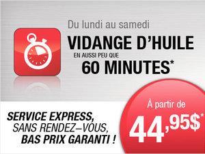 Service Express à partir de 44,95$