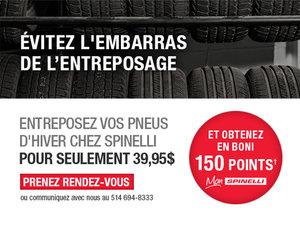 Entreposage des pneus - Facile et sans tracas - Spinelli Honda