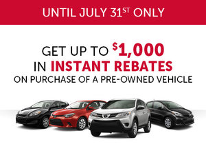 Get up to $1,000 in Instant Rebate