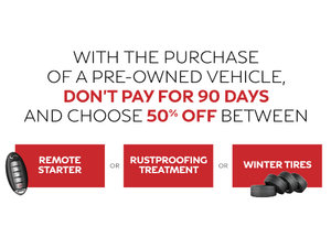 Choose your rebate and don't pay for 90 days