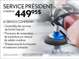 Forfait Esthétique Président pour votre Lexus