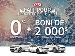 l'Événement fait pour profitez de l'hiver Kia