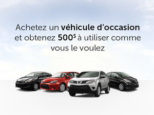 Promotion véhicules d'occasion Toyota