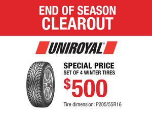 Uniroyal Winter Tires Promotion for Nissan Sentra