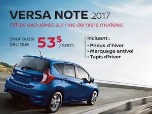 Dernière chance sur les Nissan Versa Note 2017