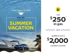 Fill up for your Summer Vacation