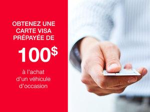 Obtenez une carte Visa prépayée de 100$