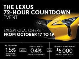 The Lexus 72-Hour Countdown Event