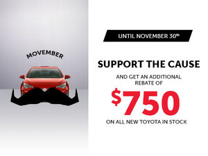 Support the cause and get an additional $750 rebate