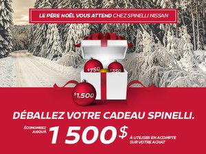 Déballez votre cadeau chez Spinelli Nissan