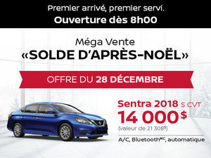 Grande Vente Boxing Week - Offre Nissan Sentra