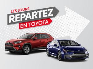 Les Jours Repartez en Toyota