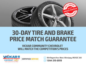 30-Day Tire and Brake Price Match Guarantee