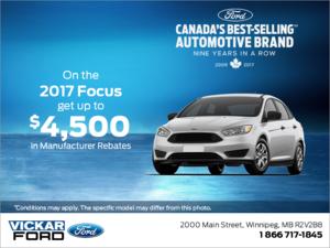 Huge Savings on the 2017 Ford Focus!