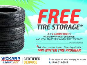 Free Tire Storage