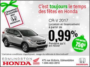 Obtenez la Honda CR-V 2017 aujourd'hui!