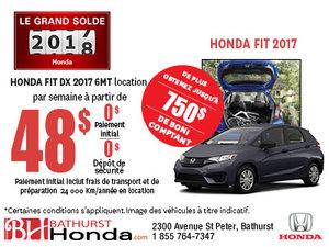 Obtenez la Honda Fit aujourd'hui!