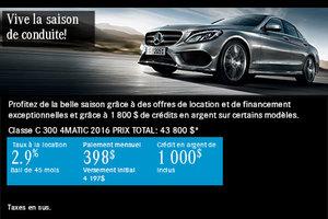 Mercedes-Benz Classe C 300 2016 à 398$ par mois