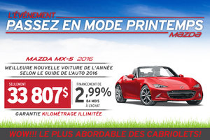 Essayez la nouvelle Mazda MX-5 2016!