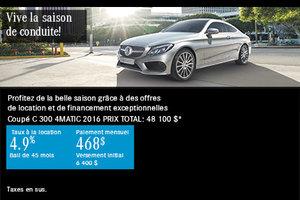 Mercedes-Benz Classe C 300 Coupe 2016 à petit prix