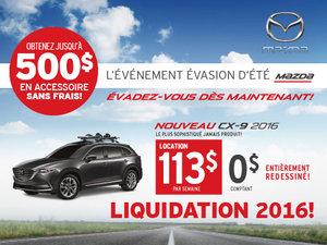 Louez le nouveau Mazda CX-9 2016